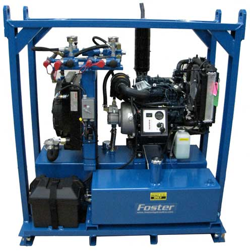 2 circuit diesl hydraulic power unit