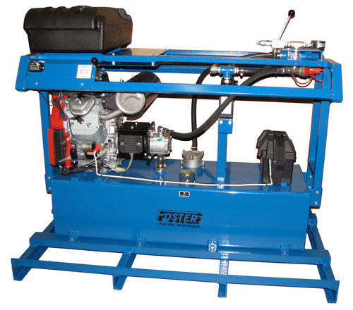 gas hydraulic power unit skid mount