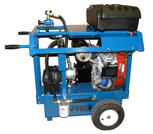 24 horse power gas hydraulic power unit