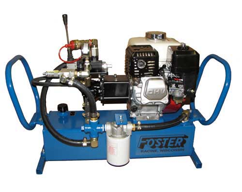 5 horse power gas hydraulic power unit